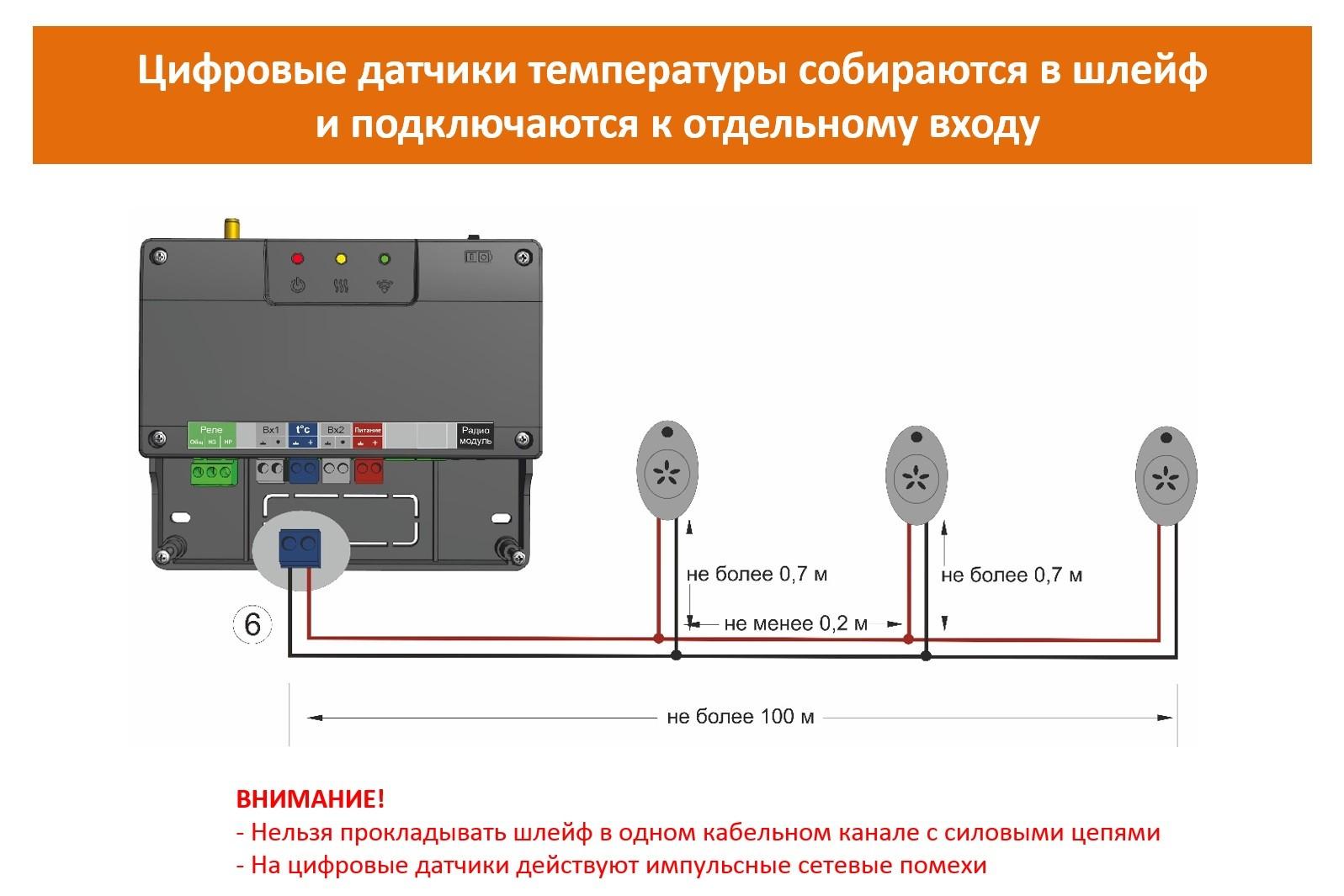 Цифровые датчики температуры ZONT