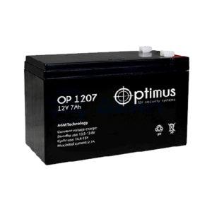 Аккумулятор Optimus OP1207, 7A/h